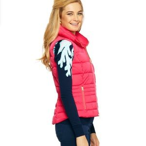 Lilly Pulitzer Syd Puffer Quilted Vest Size Small